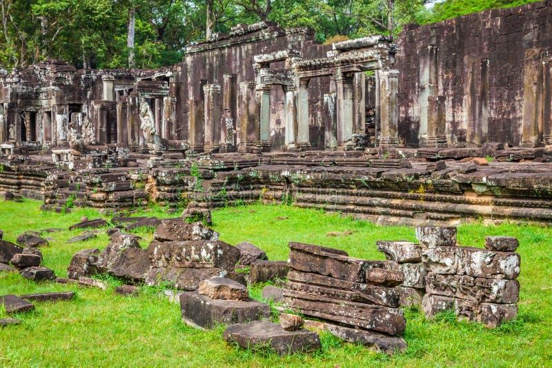 Fördärvar av templen, Angkor Wat, Cambodja royaltyfria bilder