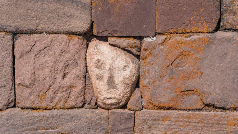 Fördärvar av Tiwanaku är en Pre Columbian arkeologisk plats i västra Bolivia royaltyfria foton