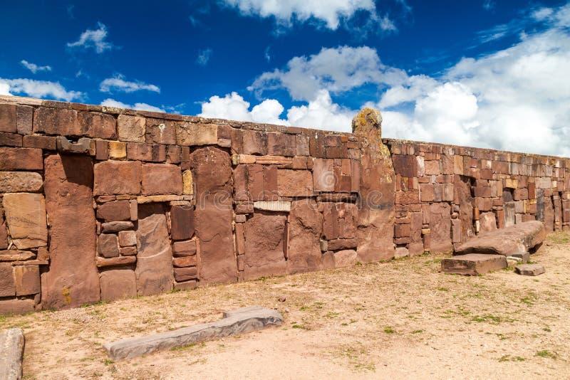 Fördärvar av Tiwanaku, Bolivia royaltyfri bild