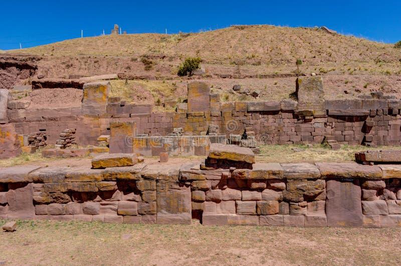 Fördärvar av Tiwanaku Bolivia La Paz royaltyfri bild