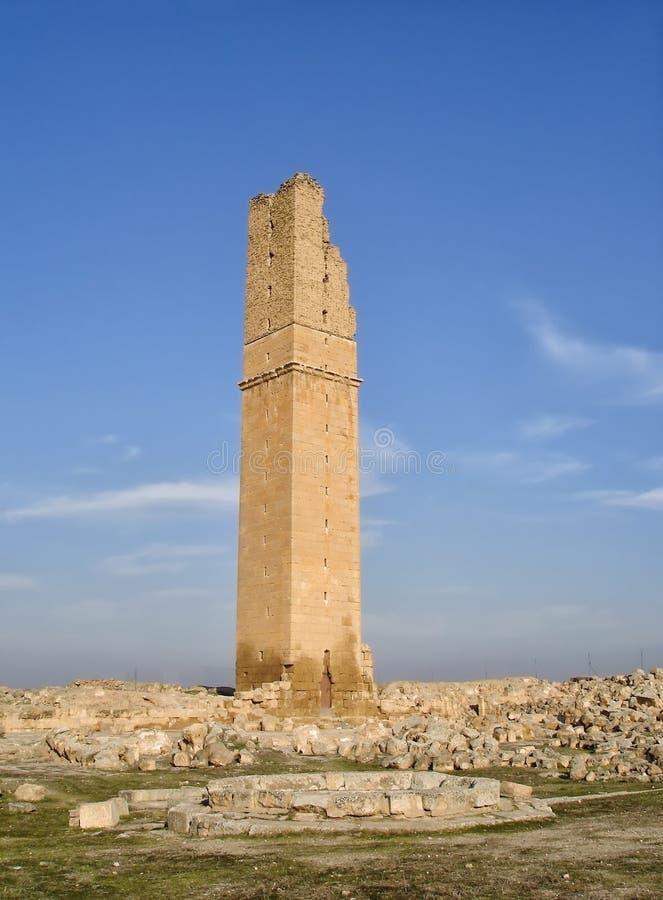 Fördärvar av Ulu Cami The Great Mosque i Harran, Turkiet arkivfoto