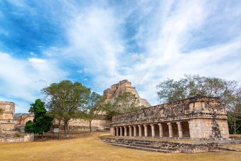 Fördärvar av Uxmal, Mexico arkivbild