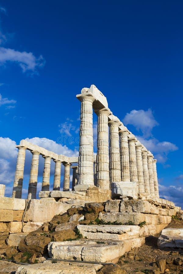 Fördärvar från templet av Poseidon fotografering för bildbyråer