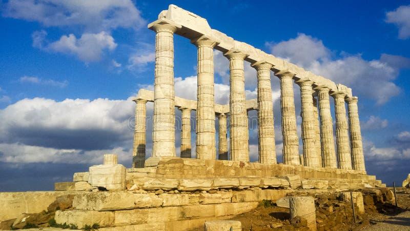 Fördärvar från templet av Poseidon arkivbild