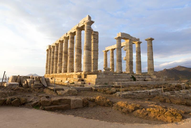 Fördärvar från templet av Poseidon royaltyfri bild