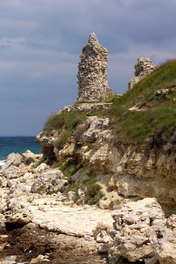 fördärvar grekiska khersones för forntida koloni royaltyfri bild
