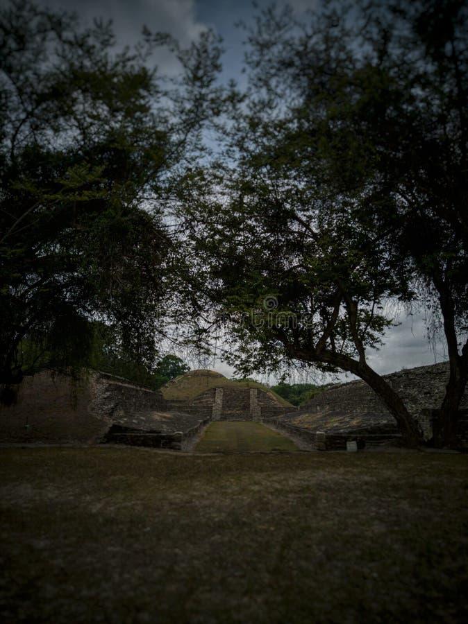 Fördärvar i México arkivbild