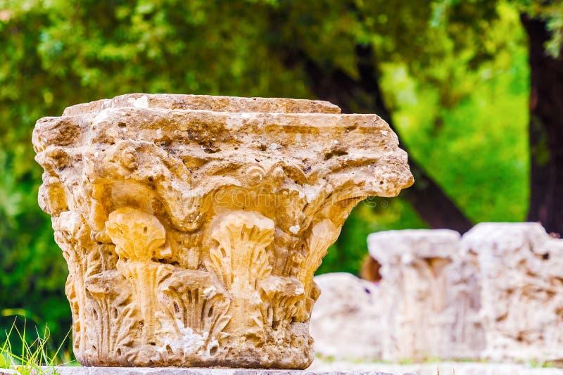 Fördärvar i Olympia, Grekland arkivbild
