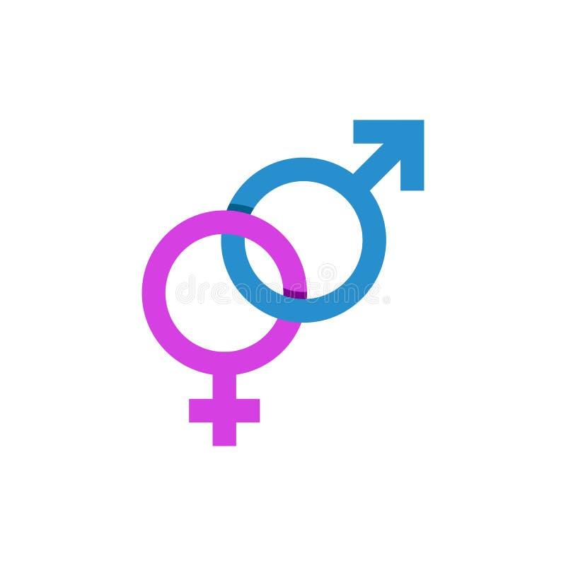 Fördärvar och Venus tecken, det manliga kvinnliga symbolet stock illustrationer