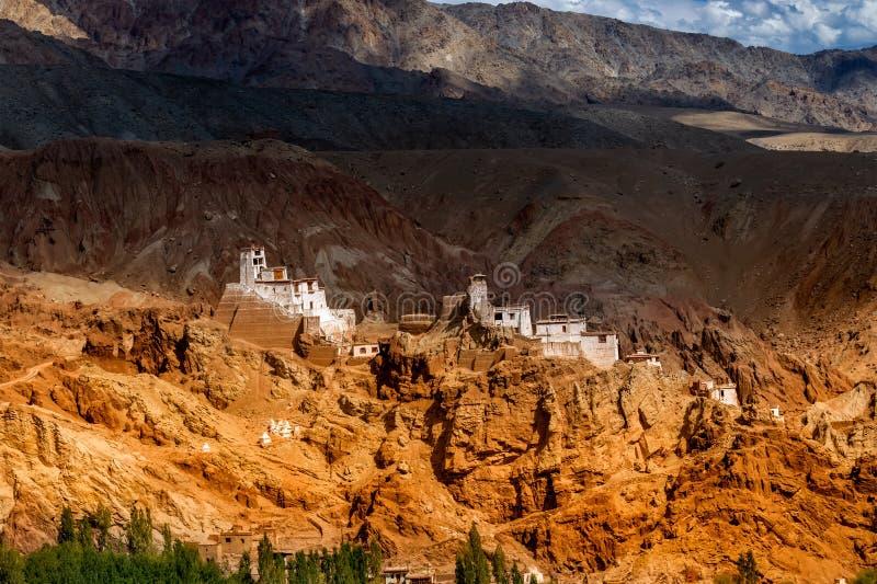 Fördärvar på Basgo, Ladakh royaltyfri bild