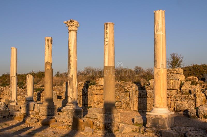 Fördärvar på Perge, Turkiet arkivbild