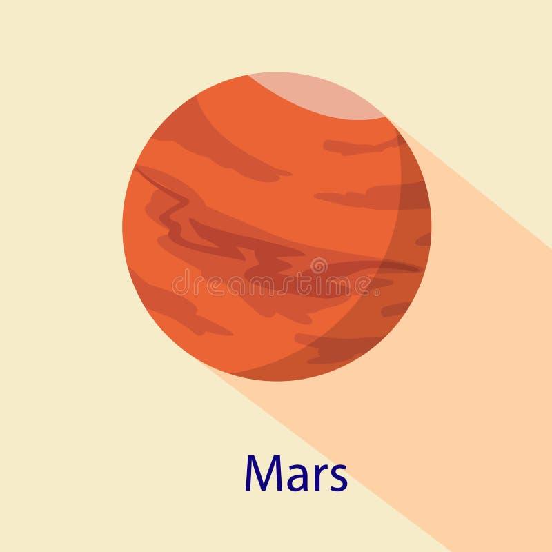 Fördärvar planetsymbolen, lägenhetstil royaltyfri illustrationer