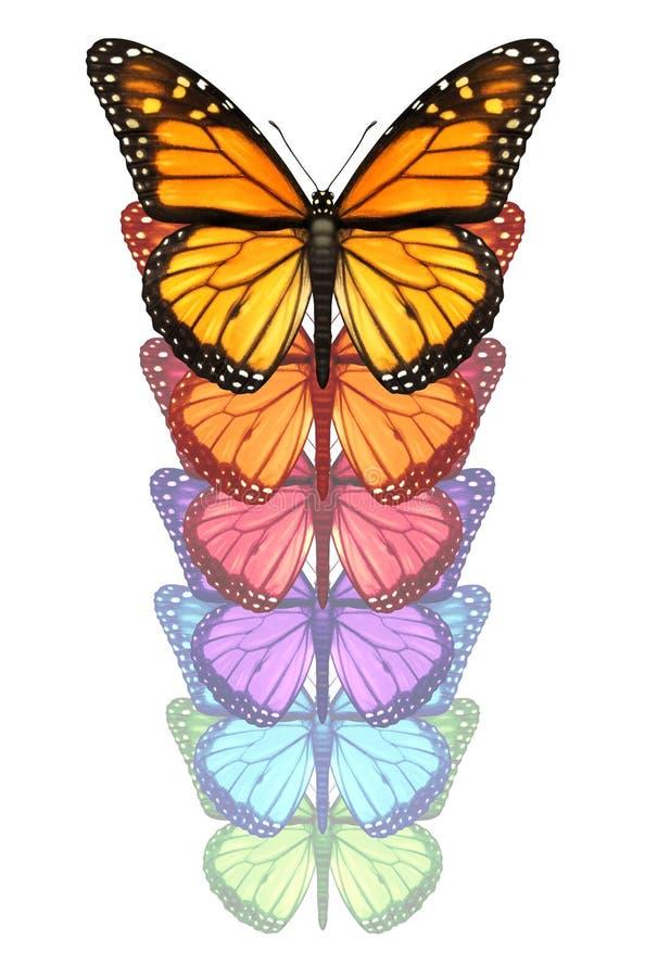 Fördela dina vingar stock illustrationer