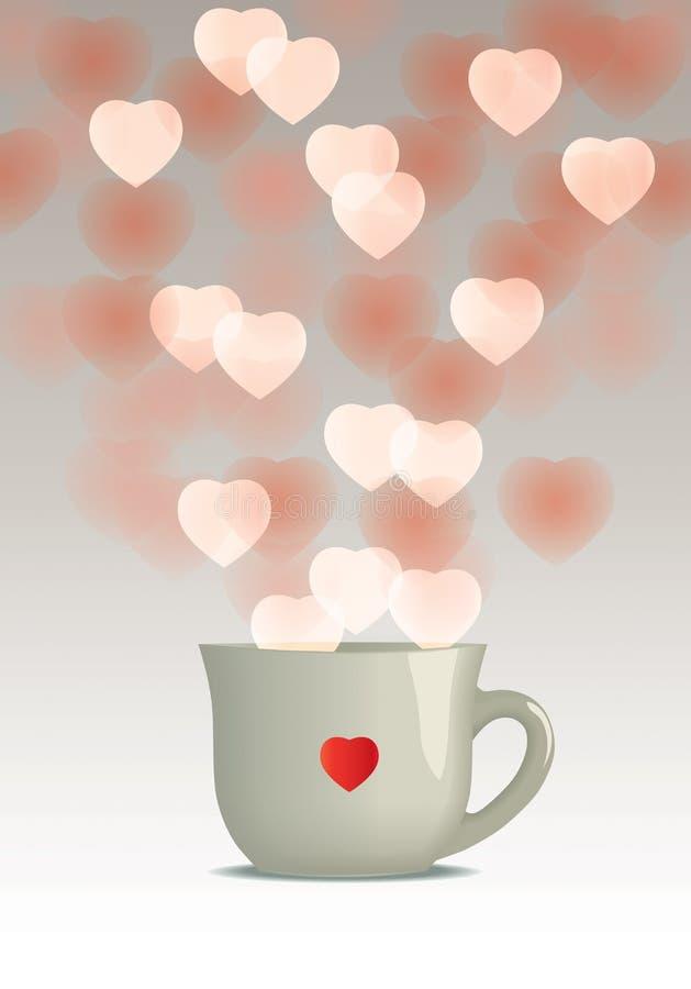 Fördelande förälskelse stock illustrationer