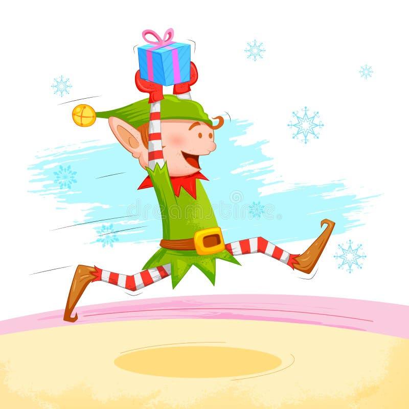 Fördelande julgåva för älva stock illustrationer