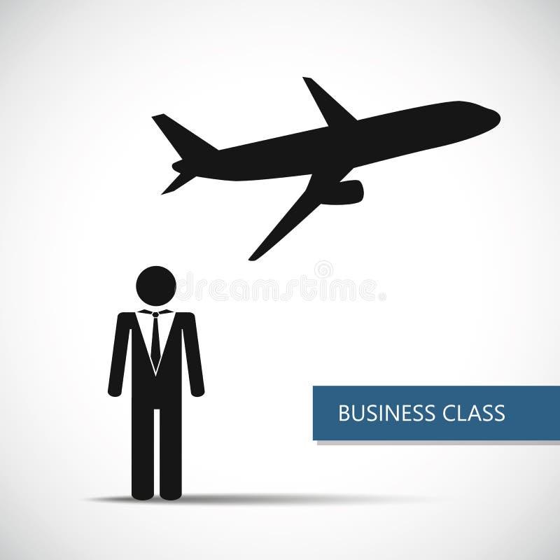 Fördelar av flyg i pictogram för affärsman för affärsgrupp vektor illustrationer