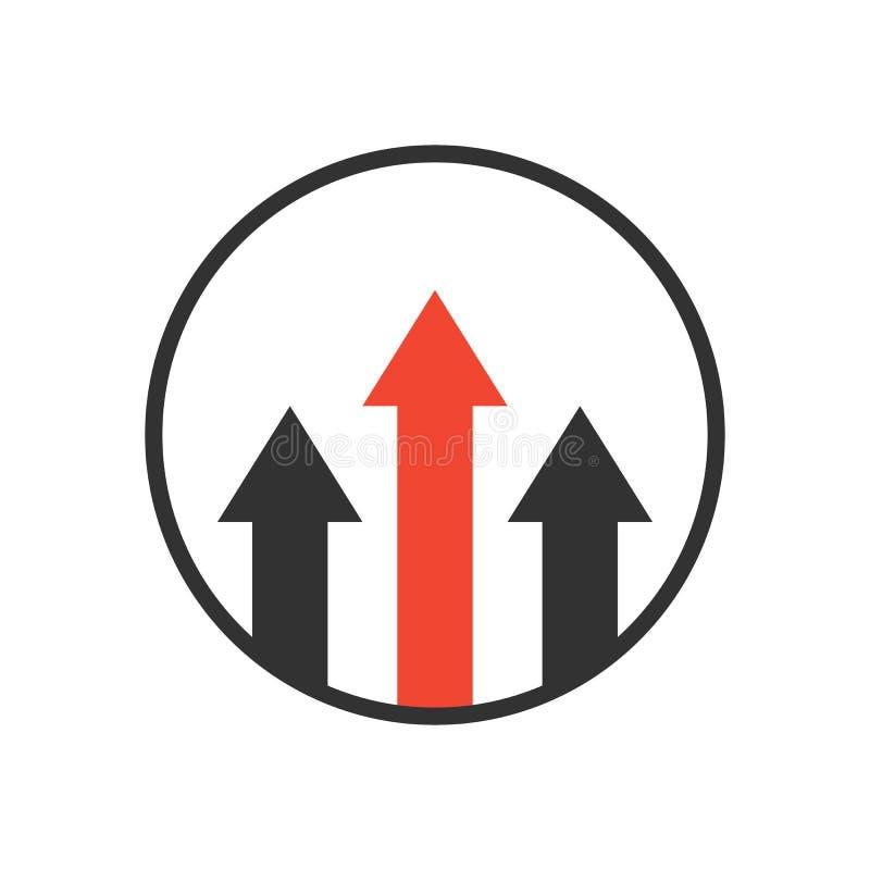 Fördelssymbol, affärstillväxtbegrepp stock illustrationer