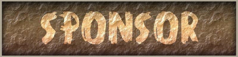 FÖRDERN Sie geschrieben mit Farbe auf Felsenplattenhintergrund stock abbildung
