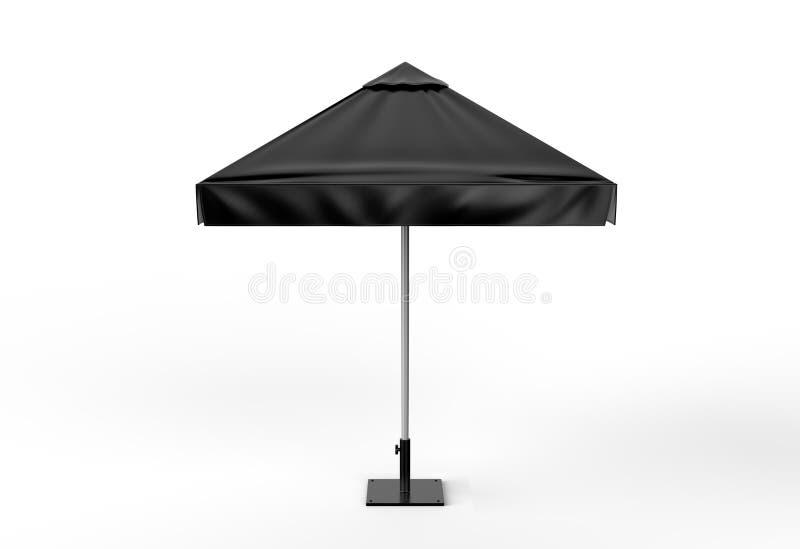 Fördernder Aluminium-Sun knallen oben Sonnenschirm Regenschirm für die Werbung zerreißende Illustration 3d lizenzfreie abbildung