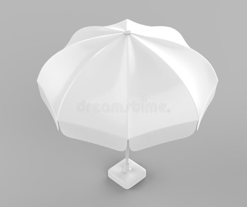 Fördernder Aluminium-Sun knallen oben Sonnenschirm Regenschirm für die Werbung zerreißende Illustration 3d stock abbildung