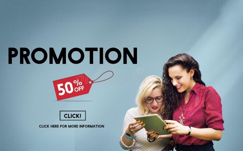 Förderungs-Rabatt-Preis-Kampagnen-Konzept stockbilder