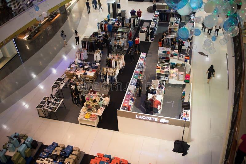 Förderungs-Verkaufs-Zone im zentralen Festival Chiang Mai stockbild
