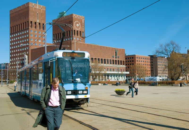 Förderwagen in Oslo lizenzfreie stockfotos