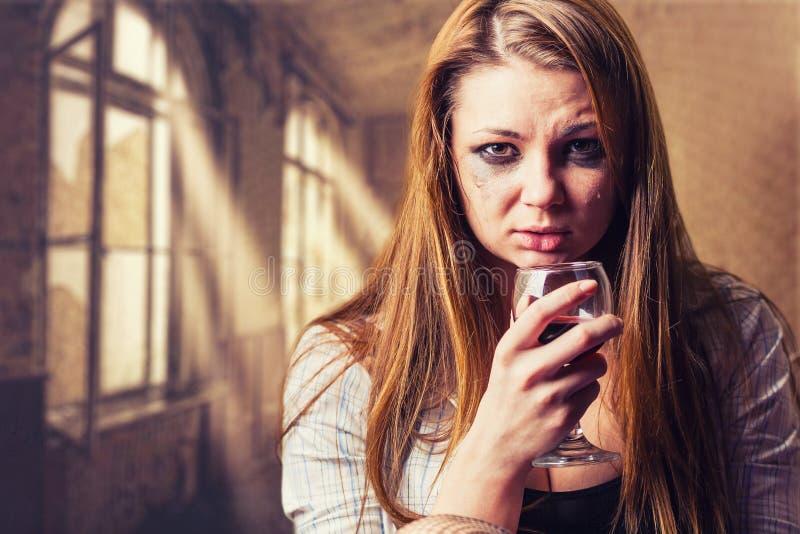 fördjupning isolerad vit kvinna royaltyfri fotografi
