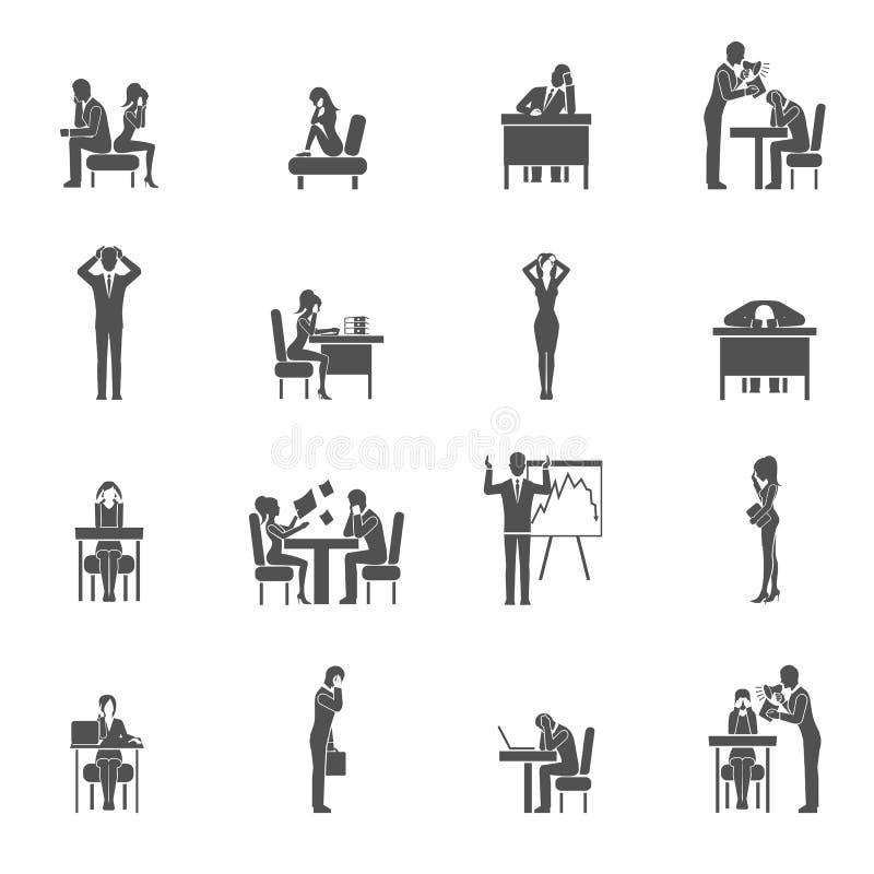 Fördjupningssymbolsuppsättning vektor illustrationer