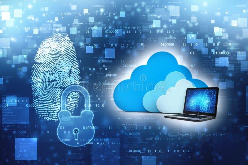 Fördunkla beräkning, molnnätverksbegrepp i teknologibakgrund 3d framför royaltyfri bild