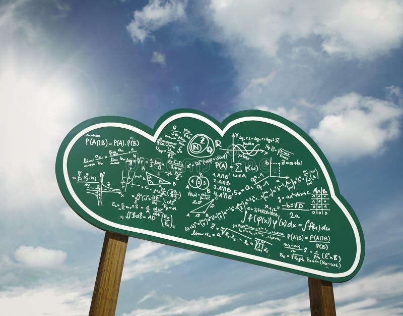 Fördunkla beräkning underteckna stiger ombord stock illustrationer