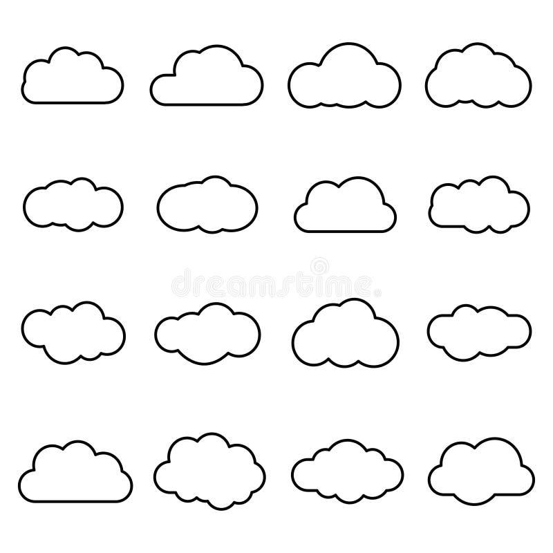 Fördunklar linjen konstsymbolen som isoleras på vit bakgrund Lagringslösningsbeståndsdel, databaser, nätverkande, programvarubild vektor illustrationer