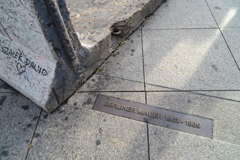 Före detta Berlin Wall royaltyfria foton