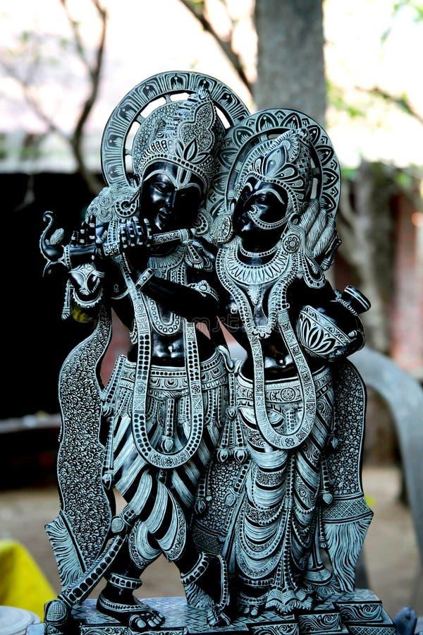 Förebild av Krishna och Radha arkivbilder