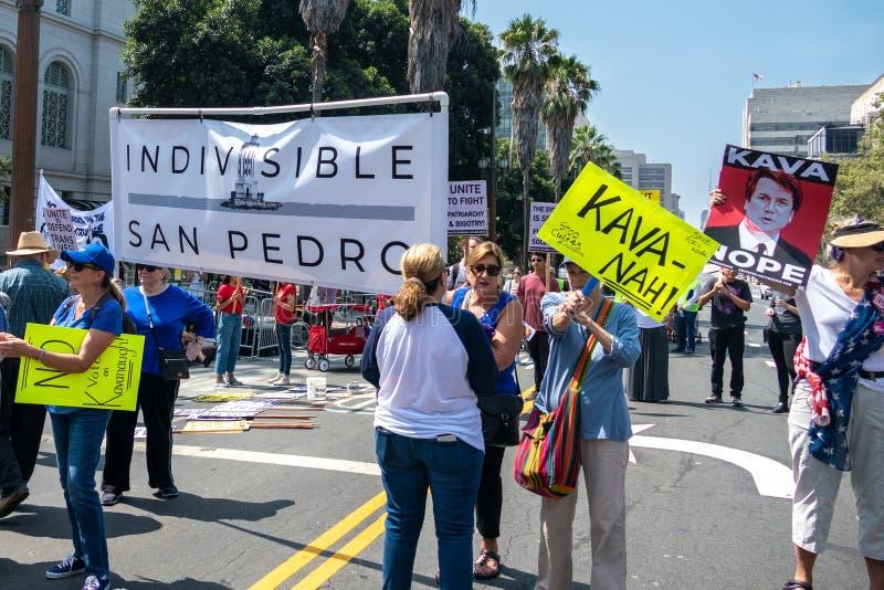 Förena för rättvisa Rally Los Angeles royaltyfri fotografi