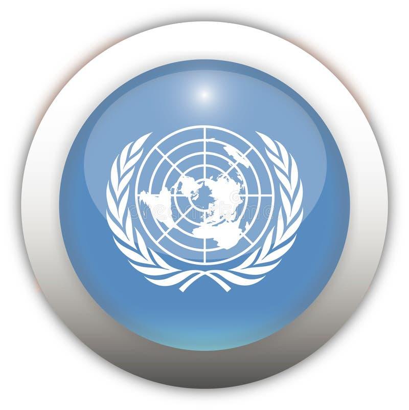 förenad nation för aquaknappflagga royaltyfri illustrationer