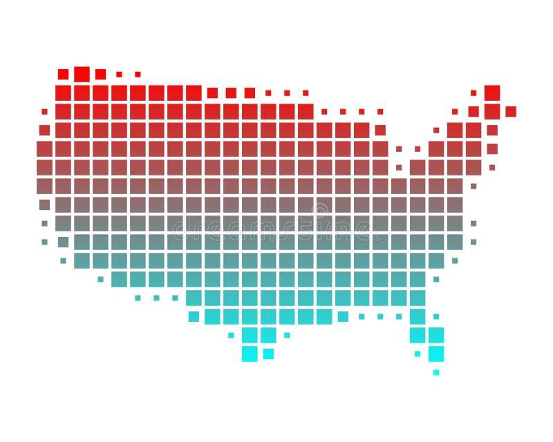 förenade Amerika översiktstillstånd stock illustrationer