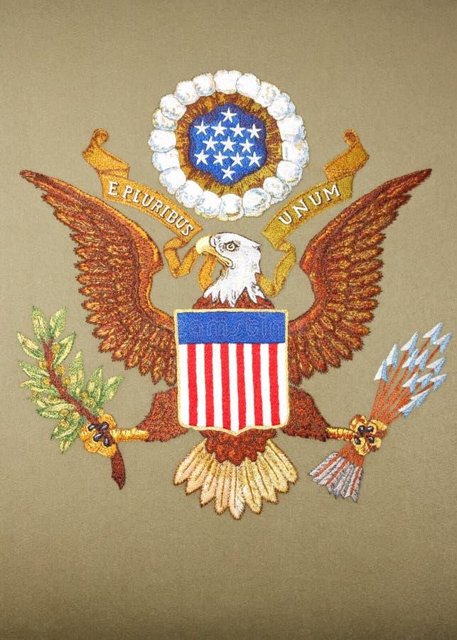 förenade Amerika emblemtillstånd royaltyfri fotografi