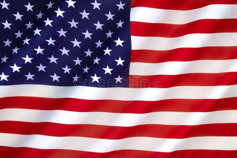 förenade Amerika flaggatillstånd royaltyfri fotografi
