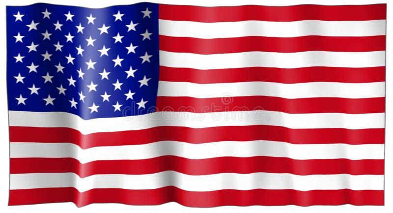förenade Amerika flaggatillstånd royaltyfri illustrationer