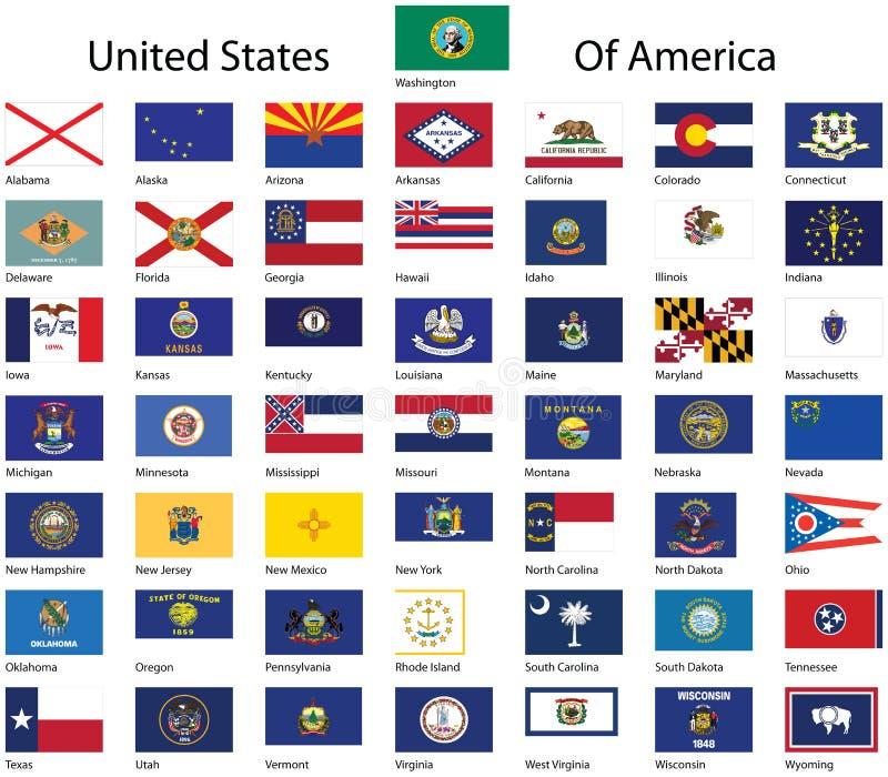 förenade Amerika samlingstillstånd vektor illustrationer