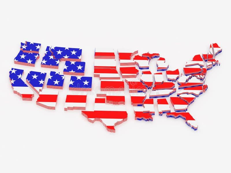 förenade Amerika tillstånd royaltyfri illustrationer