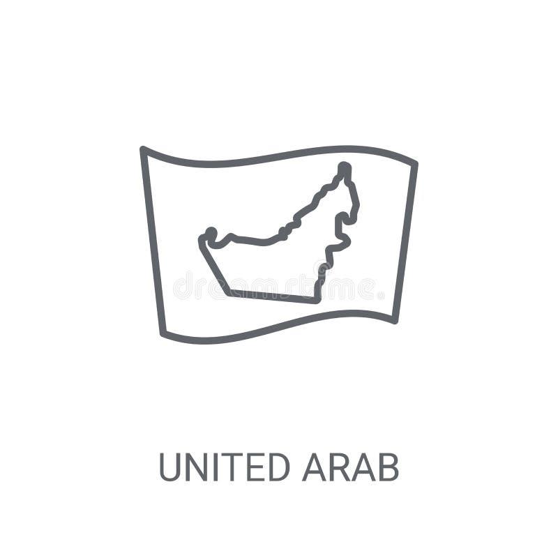Förenade Arabemiraten flaggasymbol Moderiktig Förenade Arabemiraten flagga vektor illustrationer
