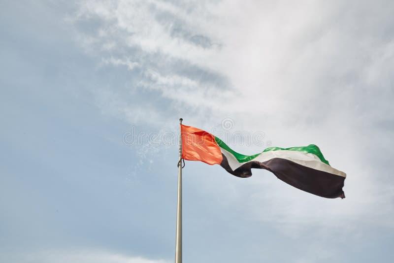 Förenade Arabemiraten flaggskepp fotografering för bildbyråer