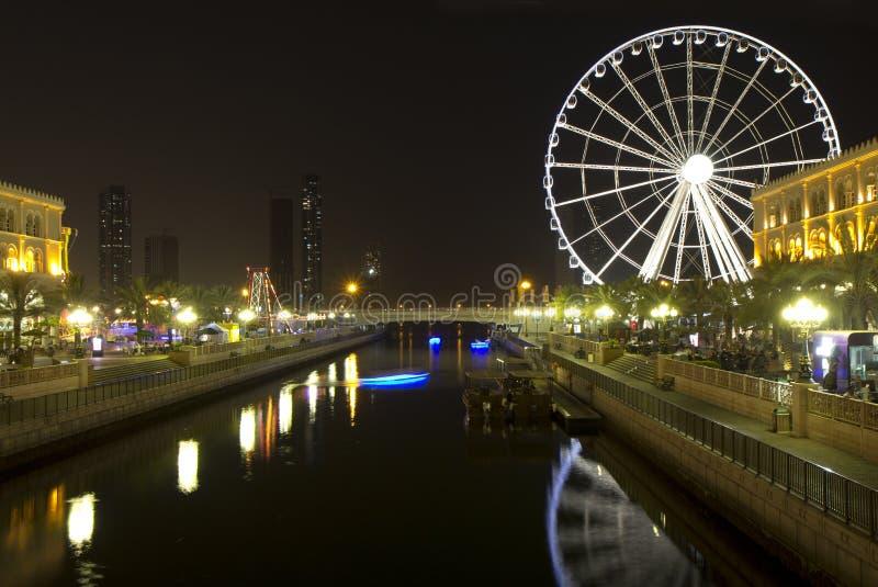 Förenade Arabemiraten Sharjah emirat. royaltyfri fotografi