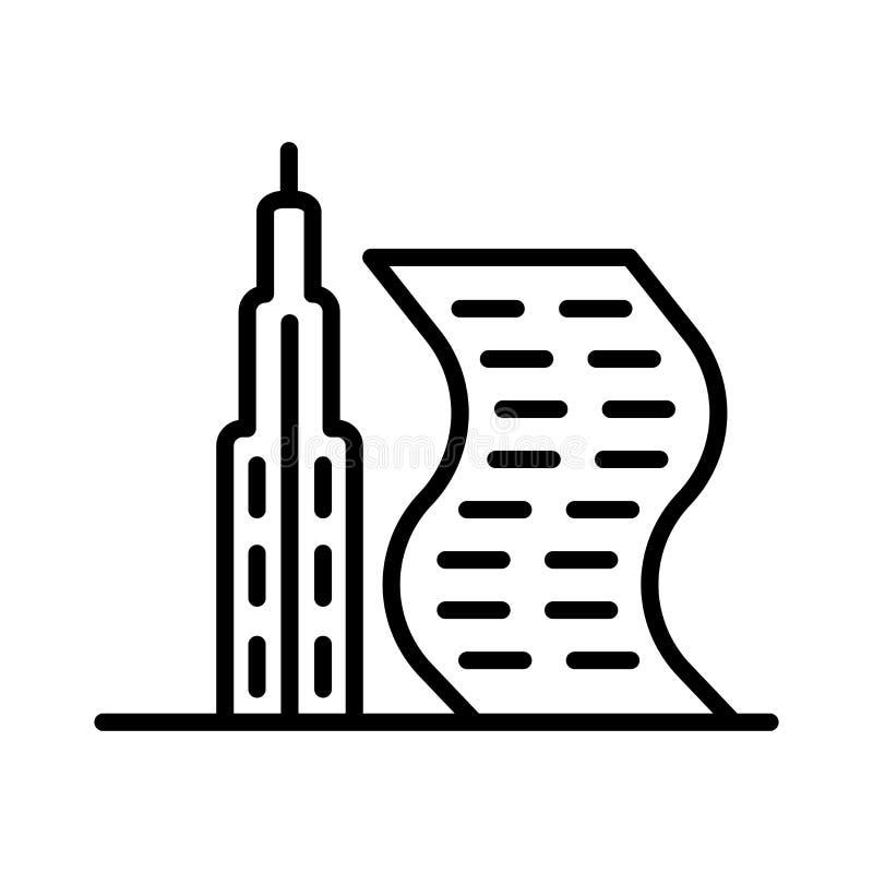 Förenade Arabemiraten symbolsvektor som isoleras på vit bakgrund, Förenade Arabemiraten tecken stock illustrationer