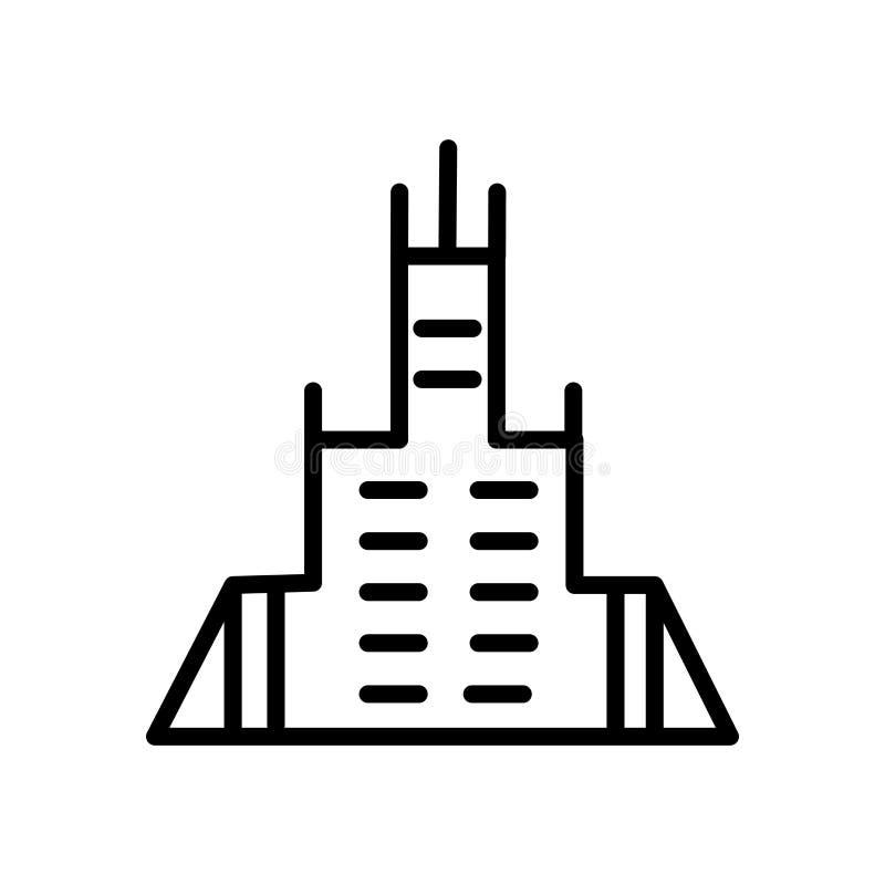 Förenade Arabemiraten symbolsvektor som isoleras på vit bakgrund, Förenade Arabemiraten tecken royaltyfri illustrationer