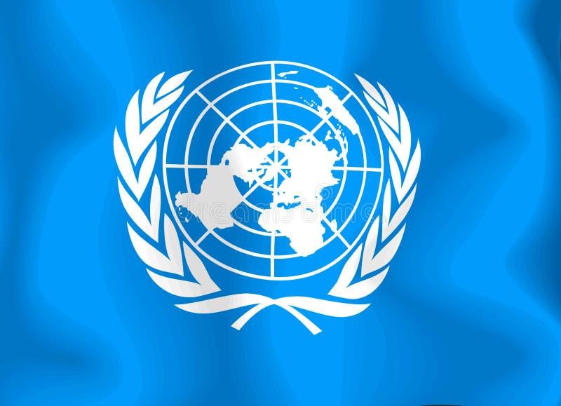 förenade flagganationer royaltyfri illustrationer