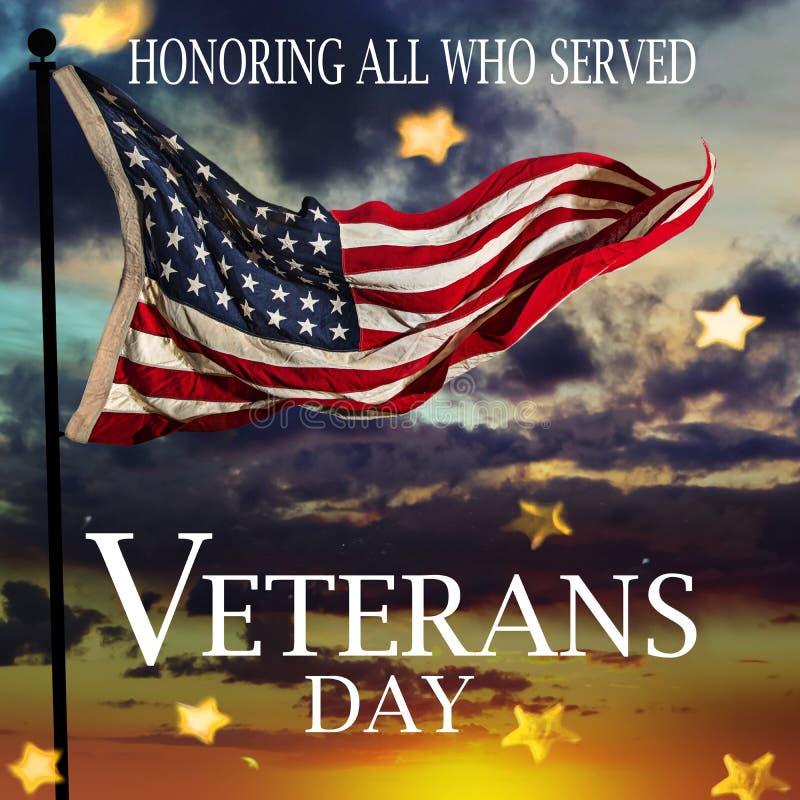 förenade flaggatillstånd Begrepp för veterandag royaltyfri foto