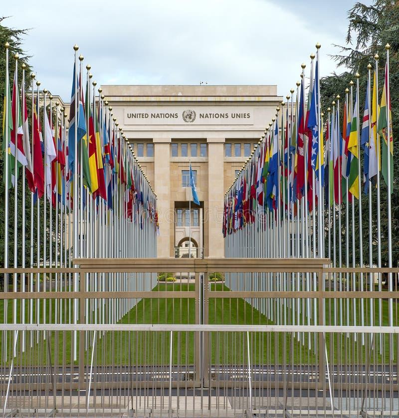 förenade geneva nationer royaltyfri fotografi